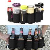 Im Freien Sechs Satz Bier-Gurt-Flaschen-Taillen-Beutel Bewegliches Getränk-Getränk-Dosen-Halter Camping Gathering