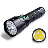 Sofirn C8F 21700 رواية 3x XPL 3500LM 4 الوضع Groups Torch Triple Reflector LED Flashlight Torch