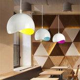 Nowoczesny kraj retro Eggshell wisiorek sufit światła abażur kuchnia wystrój domu