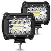 AMBOTHER 2PCS 4 Pollici 20 LED Bar Flood Spot Beam SUV fuoristrada guida fendinebbia