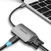 Vention CGKHA USB C HDMI 4K VGA 1080P 60Hz Erkek Tip-c TV Projektör Hub için VGA HDMI Dönüştürücü