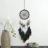 Hand Woven Natural Feathers Dreamcatcher American Folk Custom Gifts Hanging Decor Ornament
