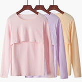 Women Maternity Tops Pregnancy Cotton Nursing Stretch Tops