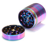 40mm 4 Layers Herb Tobacco Grinder Herbal Spice Smoke Crusher Rainbow Metal
