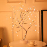 108 LED 3D Tree Table Lamp USB Battery Dual Use Night Light for Home Holiday Bedroom Indoor Kids Bar Decor Fairy Light
