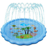 1.7M Inflatable Water Jet Pad Kids Playing Mat for Outdoor