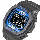 SMAEL 1801 Pure Color Luminous 5ATM Waterproof Strap Week Date Display Colorful Digital Watch