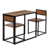 Steel Wood Office Desk and Chair Combination for Home Supplies