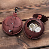 Men Retro Genuine Leather Coins Bag Bluetooth Headset