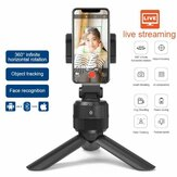 Smartphone Stativ Gimbal 360-Grad-Drehung Auto Tracking Shooting Holder Selfie Vlog Live-Streaming Broadcaset Bluetooth Kompatibel mit IOS und Android Phone