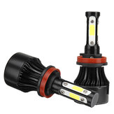 4-Side COB LED Car Headlights 9005/9006/H11 Hi-Low Beam Fog Light Bulb 6000K 120W 2Pcs