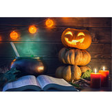 7x5FT Halloween Pumpkin Lamp Theme Photography Backdrop Studio Prop Background