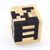 Wooden Cube Puzzle Toys 3D Kongming Lock Luban Lock Interlocking Educational Toy Kids Brain Teaser Children Classical Early Learning Puzzles