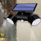 30LED Solar Power PIR Bewegingssensor Wandlamp Verstelbare Dual Head Outdoor Spot Lamp