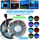 0.5M/1M/3M/5M Waterproof 5050 RGB LED Strip Light Kit Color Changing Tape Under Cabinet Kitchen Lighting