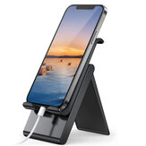 SAIJI Foldable Portable Height Adjustable Mobile Phone / Tablet Holder Stand Desktop Charging Dock for 4-12.9 inch Devices Compatible For iPhone 12 POCO X3 PRO Redmi Note 10