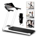 Cinta de correr eléctrica plegable de 10 km / h Inicio Gym Aptitud Portátil LED Pantalla Máquina de correr motorizada deportiva