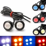 2PCS 3W LED Eagle Eye Lights Daytime Running DRL Lampadina Backup in retromarcia lampada 12V bianco per motore auto