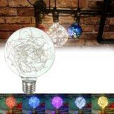 E27 Edison 50 LED фейерверка нить ретро Рождество декор свет 5color ac85-265 лампочка Sky звезда звездное