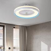 シーリングファン照明付きLEDライト3色温度調整可能な風速リモートコントロールバッテリーなしモダンなLEDシーリングライト寝室用リビングルームダイニングルーム