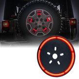 DC12VArkaStepneLastik Kırmızı LED Fren Lambaları Jeep JK 2007-2017 için