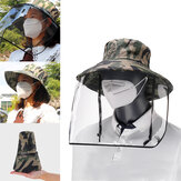 Removable Transparent Protective Mask Hat Anti-fog Splash Proof Fisherman Bucket Hat