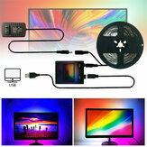 1/2/3/4 / 5m FAI DA TE Ambilight TV PC USB LED Retroilluminazione del monitor del computer HDTV a strisce