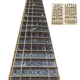 1pc Guitar Fretboard Note Sticker Musical Scale Label Begynder Dekal