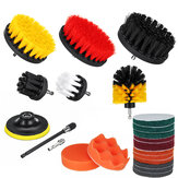 22Pcs/Set Drill Scrubber Cleaning Brush Kit for Bathroom Surfaces Tub Tile and Grout