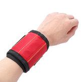 Toolkit magnetico per cinturino Cintura Vite Supporto per forbice Strumento da polso Qualità del polso Riparazione automatica Carpentiere Elettricista Cintura Strumento