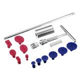 13 Pcs 2 Em 1 Dent Extrator Levantador Hammer Remoção de Granizo T Bar Ferramentas Kit de Reparação guias