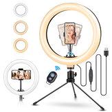 ELEGIANT EGL-02S 10 pouces 3 modes de couleur Dimmable LED Anneau Full Light Trépied Support Live Selfie Holder avec télécommande pour YouTube Tiktok VK Vlog Makeup