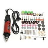 Drillpro 400W 220V Fruradeira Elétrica Moagem Ferramenta Rotativa Velocidade Variável com 161 Peça de Acessórios