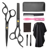 6-inch Barber Scissors Set Scissors Flat Shears Tooth Scissors Bangs Scissors Set