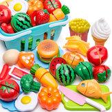 17/24/25 / 61PCS Kid Pretend Role Play Juguetes Cocina Pastel de frutas Comida Niño Corte Vegetal Player Set
