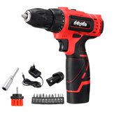 Mensela ED-LS1 12V MAX Cordless Broca Motorista Double Speed Power Brocas Com LED Iluminação 1 / 2Pcs 1.5Ah Bateria