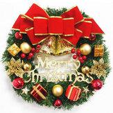 30cm arreglo de guirnalda navideña adorno corona decoración corona arco campana para la decoración del festival de año nuevo de Navidad 2020
