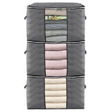 3 Pcs Clothes Storage Bag Zip Organizer Boxes Pillows Quilt Bedding Bag Luggage Bag