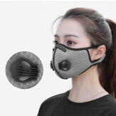 Aolikes 4-Filters Breathable Dustproof Face Mask With Valves Anit-fog Bicycle Respirator Outdoor Sports Protective Mask