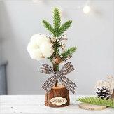 25cm Mini Noel Ağacı Masa Süslemeleri Ev Ofis Ağacı Süsleme Yaratıcı Hediyeler Ağacı El Sanatları Çocuk Oyuncakları