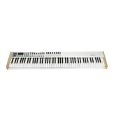 WORLDE P-88 Pro 88-Key USB MIDI Keyboard Controller with 88 Semi-weighted Keys 16 RGB Backlit Trigger Pads 8 Assignable Sliders