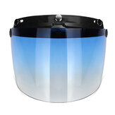3-Snap Flip Up Open Face Motorcycle Helmet Visor Shield Five Colors