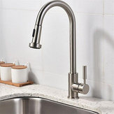 Kitchen Sink Faucet Pull-Down Sprayer 360 degree Rotate Cold And Hot Water Mixer Tap