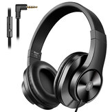 Oneodio T3 3.5mm Wired Headphones Portable Stereo Over Ear Headband Headset With Mic For Computer PC Laptop PS4