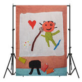 5x7ft 1.5x2m Cartoon Kids Heart Cloth Photography Backdrops Background Studio Photo Props