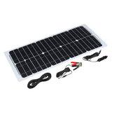30 W 12V Zonne-energiepaneel Monokristallijn Silicium Semi-flexibele huiselektriciteit