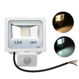 20W 36 LED PIR Lumière d'inondation extérieure de capteur de mouvement imperméable IP66 projecteur de rue de jardin AC220V