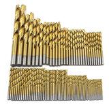Set di punte elicoidali HSS con rivestimento in titanio da 99 pz 1.5mm-10mm
