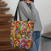 Tote della borsa della borsa della stampa della figura del fumetto multicolore delle donne in feltro Borsa
