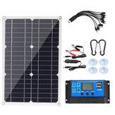 200 W-os hordozható napelemkészlet Dual DC USB töltőkészlet W / Nincs / 10A/30A / 60A / 100A napelemes vezérlő monokristályos napelem